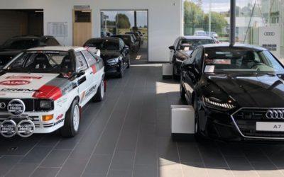 Audi Quattro Gr.4 débarque au garage LLorens de Neufchateau